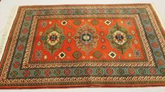 Gorgeous Hand Knoted Eagle Kazak carpet from Azerbaijan 200,000-250000 knots/m² , soft wool with attractive Vegetable dyes ,179 cm x 112 cm (+ – 1970)