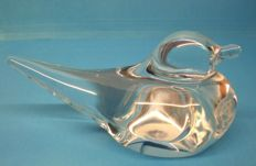 "Daum - glass figurine ""Swallow"", paperweight"