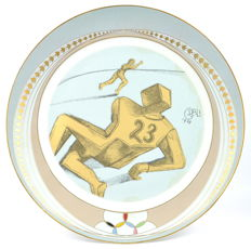 American football porcelain plate by Salvador Dalí - Artist Proof
