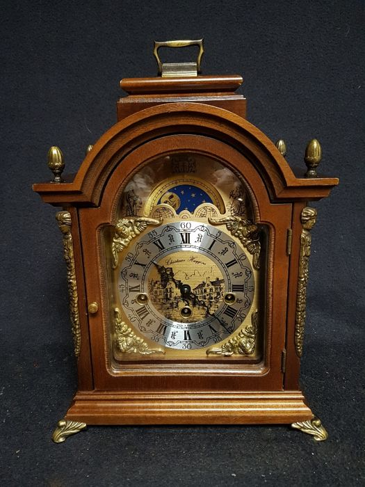 Large table clock of Christine Huygens with Westminster strike and moon phase