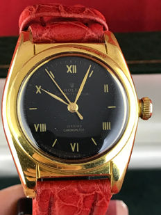 """Rolex Oyster Perpetual Bubbleback Ovetto """"Tropical"""" Ref 2940, 1940s"""