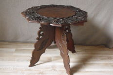Very nice hand-made side table, second half 20th century
