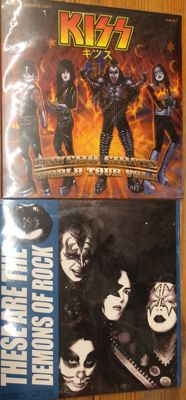 Two albums of KISS || Psycho circus world tour || These are the demons of rock || Very rare collector items || Sealed || Coloured vinyl || Special and limited editions
