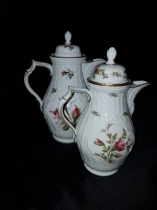 Rosenthal - 2 coffee pots - Classic Rose /  Sanssouci – Moss Rose