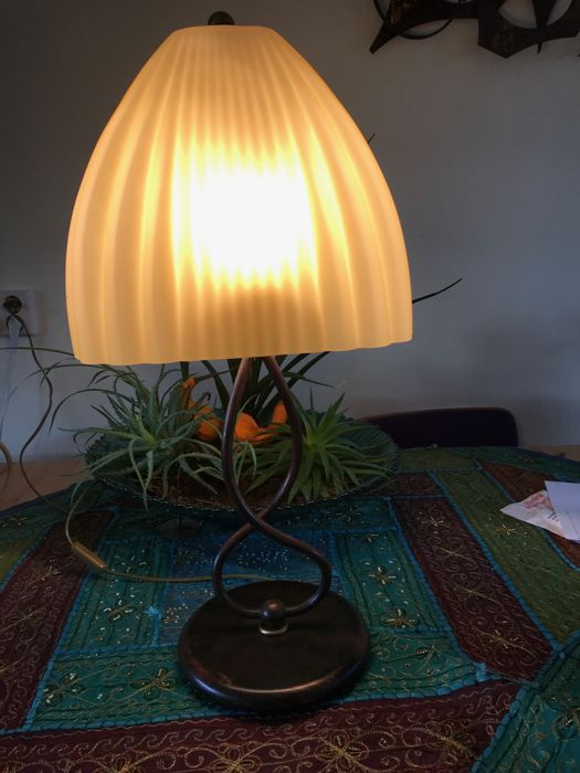 Wonderful table lamp with pleated glass shade of Massive Nederland