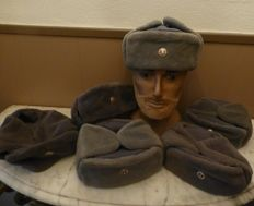 Lot GDR winter hats