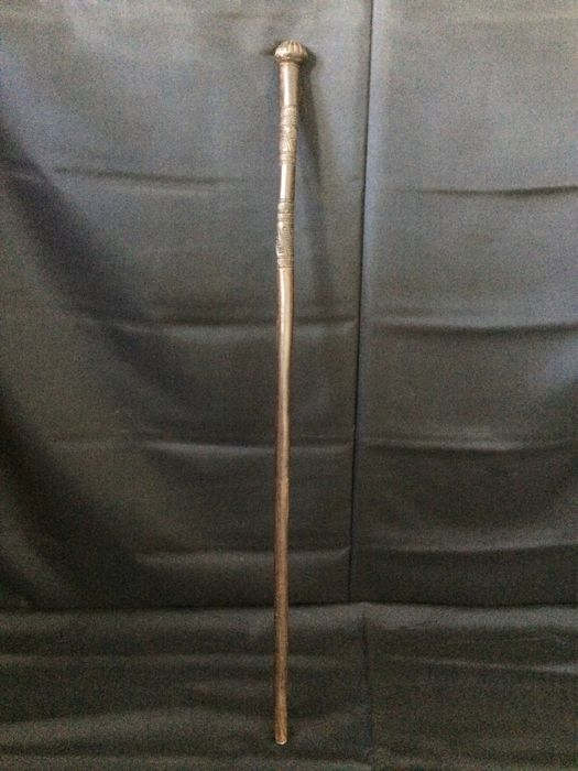 Handmade Hardwood Cane / Walking Stick - Ca 1920