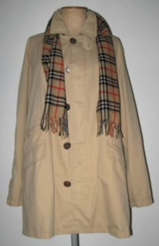 Burberry London coat and scarf