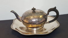 Vintage Silver Plate Coffee/Tea pot ,with support tray Silver EPNS ,R.R Sheffileld