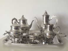 Set of tea/coffee in sterling silver