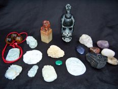 Large collection of Minerals - cut, polished and natural - 30 to 100 mm - 620gm  (21)