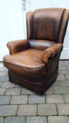 English leather armchair, England, late 20th century