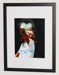 Bjorn Borg original signed Photo - Deluxe Framed + Certificate of Authenticity