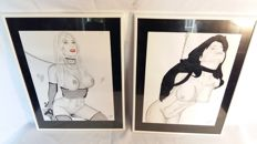 Original work; 2 BDSM drawings by Grégory Vanspeybroeck - 2016