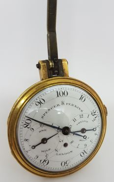Spencer & Perkins, London - pedometer with fob hook - 1775-1794