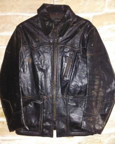 ENERGIE motorcycle model look jacket -  M/44 size, made in Italy -c.1990s