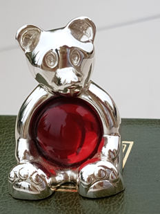 Christofle animals collection, the red bear, new/mint condition