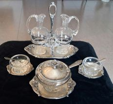 Silver condiments set early 20th century