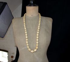 Heavy antique ivory necklace