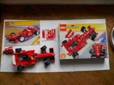 System Model team - 2556 - Ferrari Fi race car + 12 figures race pilots with all the different suits.