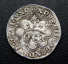 Spain - Enrique IV (1454–1474) 1 real, Seville mint - Very scarce - Silver
