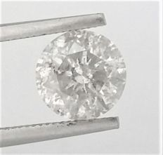 2.01 carat , G color , SI2 clarity , Round Brilliant Diamond - AIG certified + Laser Inscription on Girdle