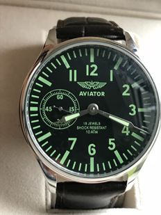 "Molnija ""Aviator"" military wristwatch. USSR (1958-1963s)"