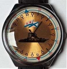 Raketa - Russian Navy fleet - CCCP - 24 hours  - 2609.H SU - not worn - Men - 1980-1989