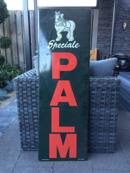 Enamel sign Palm beer - early 1980s