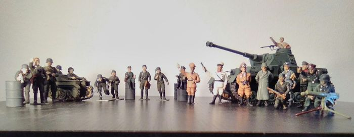 Toy soldiers with celebrities