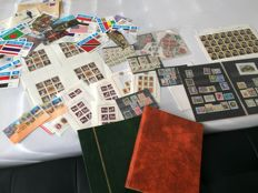 World - lot of postage stamps and blocks and cards