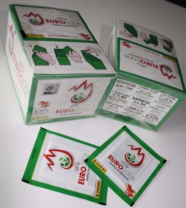 Panini - Euro 2008 Switzerland and Austria 2008 - 2 original unopened boxes - Green variant - incl. 2 extra packets