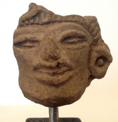 Pre-Columbian Zapotec pottery head fragment - Mexico - 5 cm