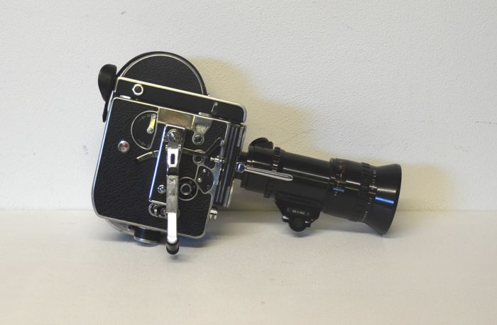 Bolex Paillard H16 SLR film camera - 16 mm - with lens: Zoom Pan-cinor