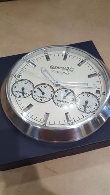 Eberhard wall clock with world times