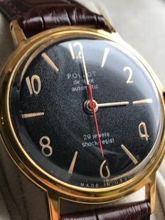 Poljot DeLuxe-avtomatic -AU20 -Soviet men's wristwatch USSR - from '60s.Export series limited edition.