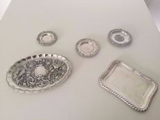 Sterling silver trays, Spain, second half of the 20th century