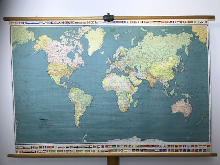 School poster world map the world catawiki school poster world map the world gumiabroncs Gallery
