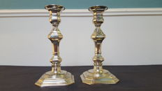 A pair of two candlesticks silver plated EPNS from England