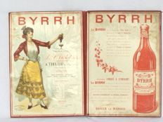 "Large old menu with advertising ""BYRRH"" - 1927 France"