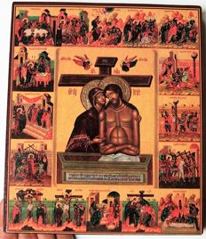 Russian Icon  - The Passion of Christ