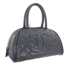 Chanel - Boston hand bag in quilted leather