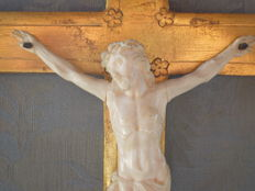 French Dieppe Cross with ivory Corpus Christi - late 19th century