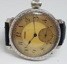 Anthos quarter repeater men's marriage wristwatch - circa 1910