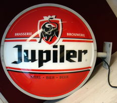 Facade sign Jupiler beer with lighting and mounting