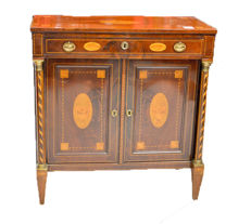 A Neoclassical mahogany and marquetry side cabinet - The Netherlands - 19th century