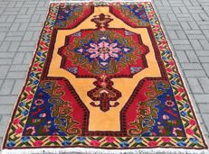 Hand knotted Turkish Rug Wool Rug 4.56 X 7.21 ft ( 139 X 220 cm) Turkish Carpet
