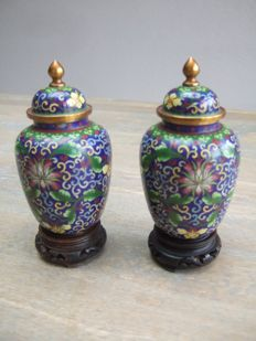 Two vases - China - 2nd half previous century