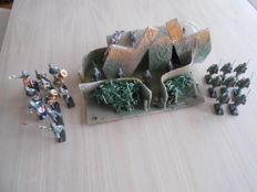 Lineol Germany musicians & Schusso Germany infantry/bunker with trench with soldiers