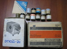 Two projectors of the USSR Etud -2 and Ogonek with the instruction and in native boxes